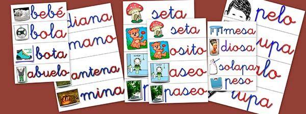 Recursos didácticos: Fichas de vocabulario básico - Escuela en la nube | Recursos para Infantil y Primaria