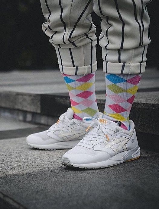 asics gel saga white grey yellow