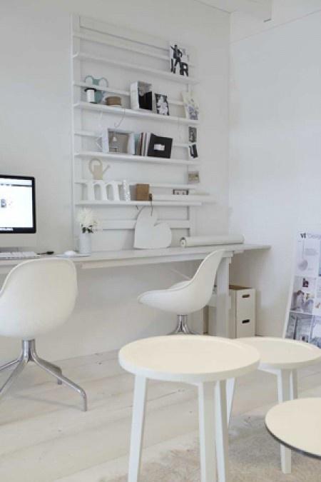 woonkamer | Veelzijdig wit. witte werkplek Door lotteadriaenssens