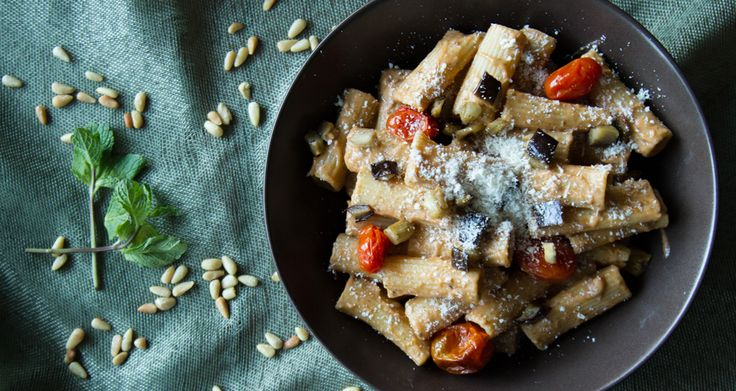Rigatoni with Roasted Eggplants