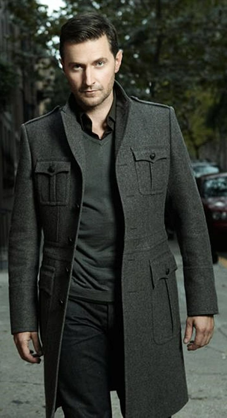 Richard Armitage - The look is sleek but the jacket is kewl :) | Raddest Men's Fashion Looks On The Internet: http://www.raddestlooks.org