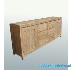 Modern teak houten dressoir