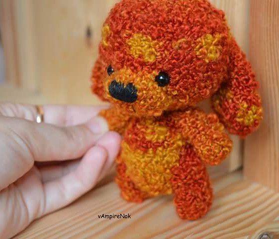 WEBSTA @ _vampirenok_ - Вдогонку #собака огненная. Маленькая, мягкая кучеряшка. Очень доверчивая и дружелюбная. #крючком созданная из фантазийной #пряжа .#crochet#amigurumi#handmade#вязание  #handcraft#amigurumis #instacrochet#crocheting#あみぐるみ#влентусчастья  #magcrafts_ishow#weamiguru#handmade_hello  #artisanland#love #cute#bestmasterpiece#dog#mycreative_world#magikstore#toys_gallery