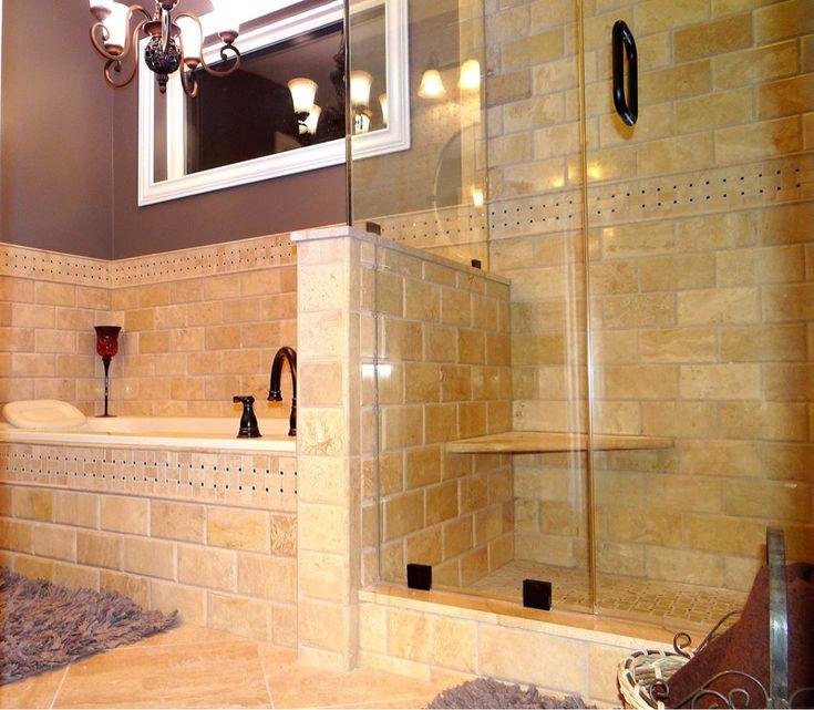 Master bathroom tile by Link Renovations