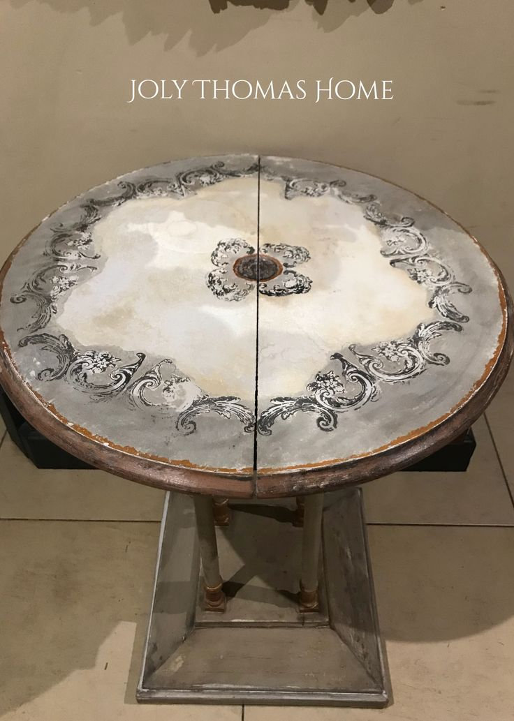 Iron Orchid Design Grey Table