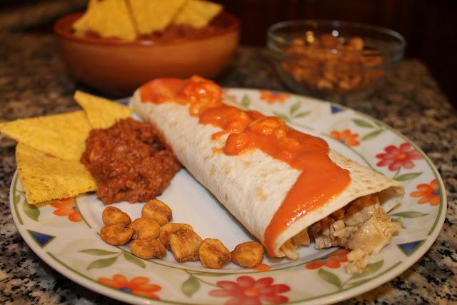 #Burrito con #pollo e verdure - Burrito with #chicken and vegetables