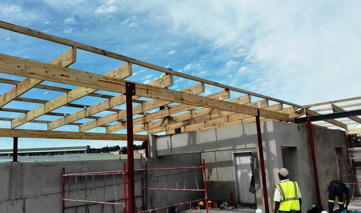 Roof covering , #trusses secured #timber #structure #construction