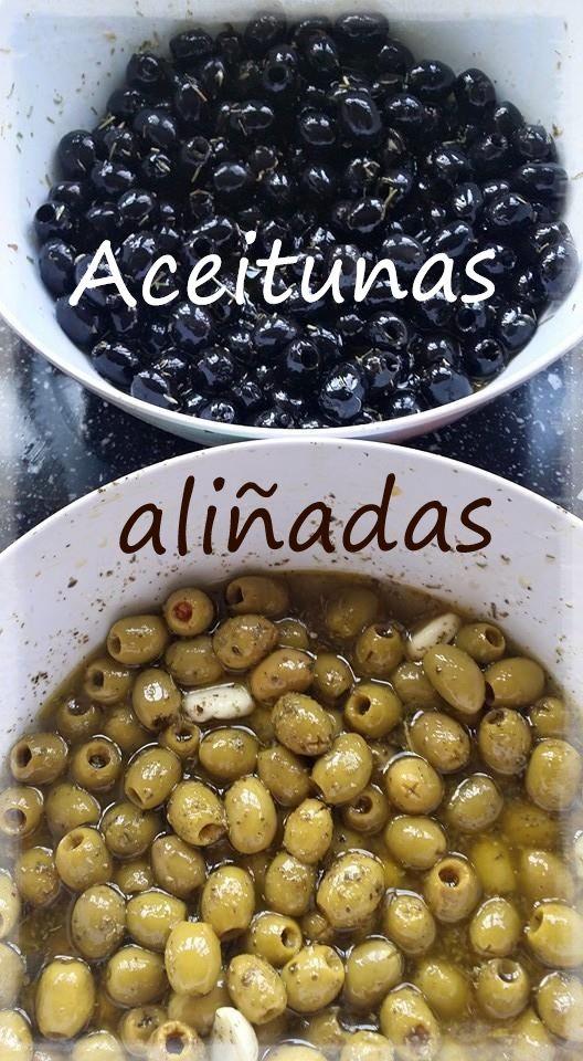 Aceitunas aliñadas/gemarineerde olijven/marinated olives