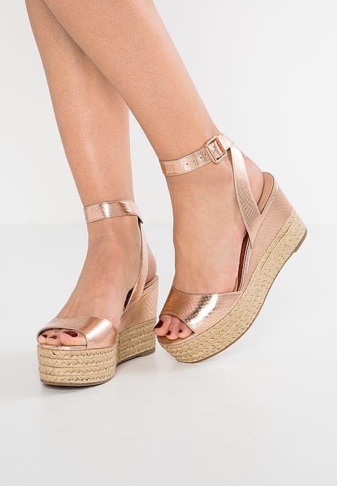 Chaussures Head over Heels by Dune KALMIA - Sandales compensées - rose gold or rose: 70,00 € chez Zalando (au 28/05/17). Livraison et retours gratuits et service client gratuit au 0800 915 207.