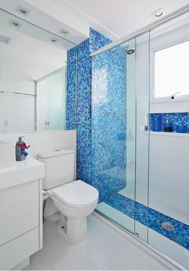 25+ melhores ideias sobre Decoração Azul Para Banheiro no Pinterest  Decoraç -> Decoracao De Banheiro Pequeno Com Pastilhas Azul