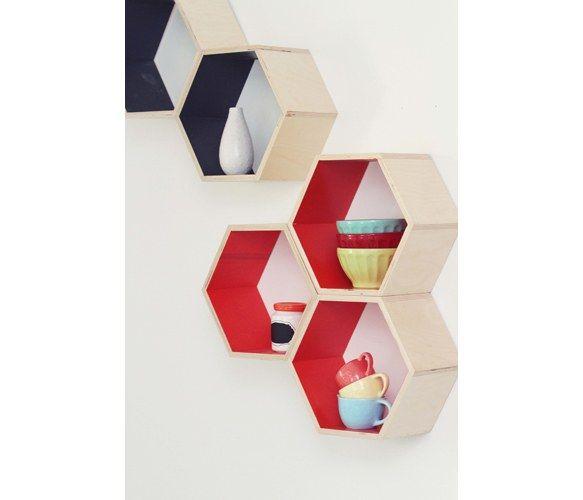 These honeycomb shelving units. #homedecor #shelving