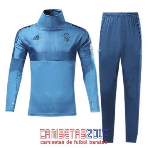 Chandal conjunto Adidas Real Madrid 2017 2018 azul