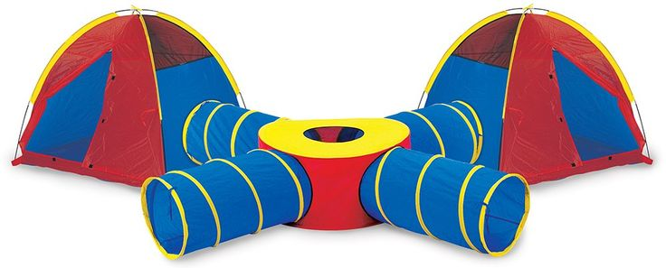 Pacific Play Tents Kids Tunnels of Fun Super Set - 2 Dome Tents, 4 Tunnels, and Tunnel Junction
