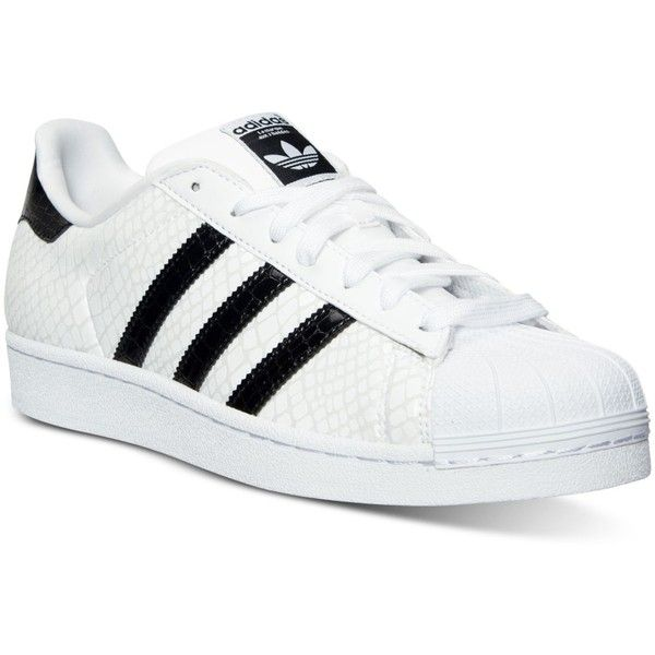adidas Men's Superstar Casual Sneakers from Finish Line ($60) ❤ liked on Polyvore featuring men's fashion, men's shoes and men's sneakers