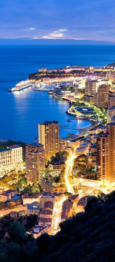 Aerial view of Monaco. Monaco, officially the Principality of Monaco, is a sovereign city-state and microstate, located on the French Riviera in Western Europe. It is bordered by France on three sides; one side borders the Mediterranean Sea.