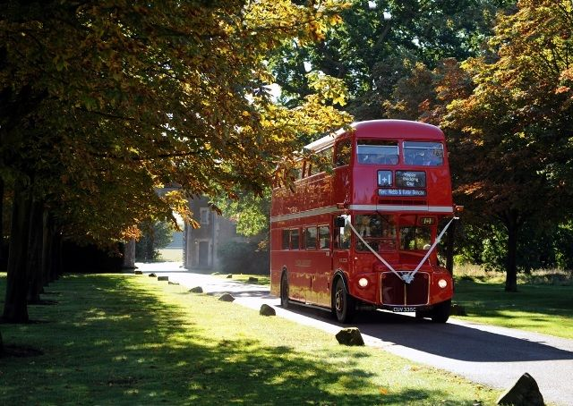Red Bus Guest Transportation From Church To Reception