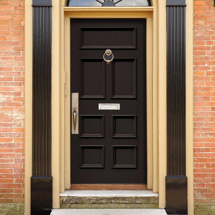 Made to order exterior door, Victorian Bronte door - made to measure with flat panels and raised mouldings. #elegantfrontdoor #victoriandoor #solidfrontdoor