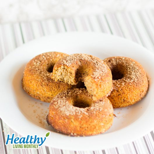 "Pumpkin Donuts with Cinnamon ""Sugar"" from the October 2015 issue of Healthy Living Monthly newsletter: https://gum.co/sOvPr"