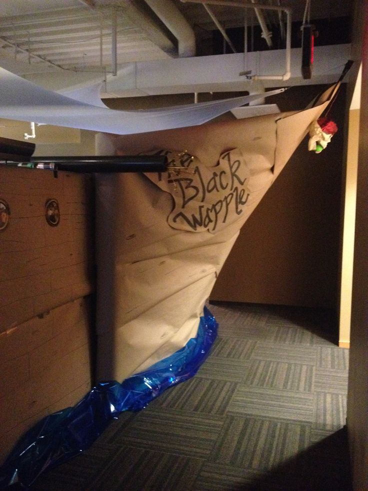 Office Cubicle Pirate Ship Halloween Cubicle Decor
