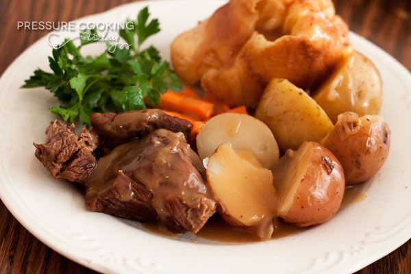 Classic Pot Roast and Potatoes (pressure cooked)