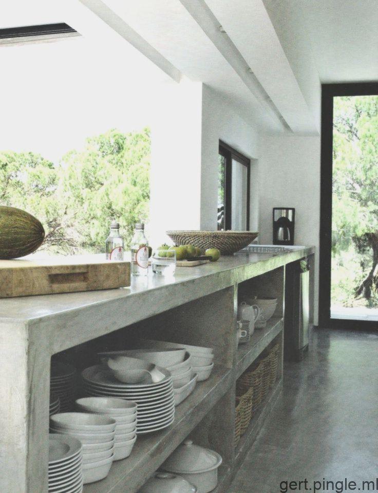 arbeitsplatte aus beton 30 ideen für neue oberfläche in der küche selber intérieurs en béton on outdoor kitchen ytong id=25380