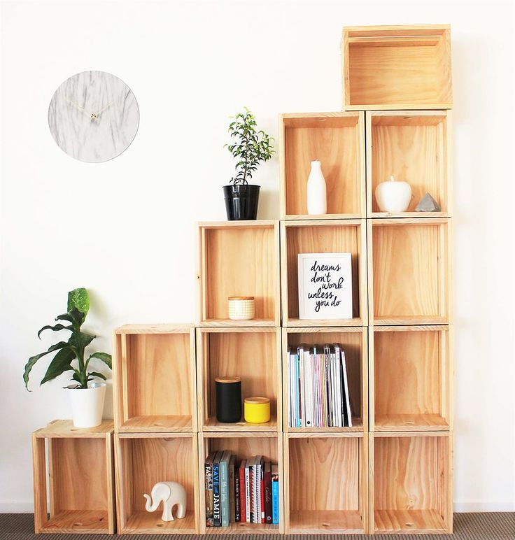 The Mood Store crate shelving