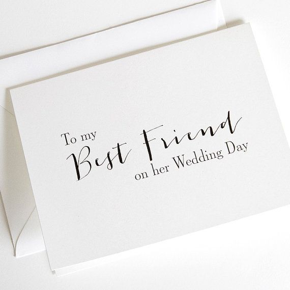 Wedding Cards To My Best Friend On Her By Orangeumbrellaco