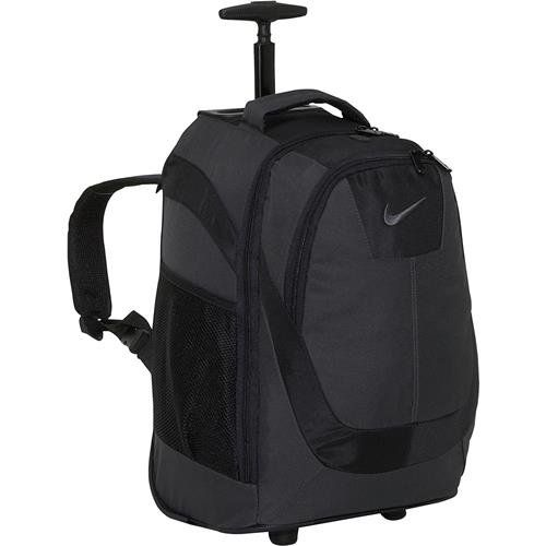 Nike Swoosh Rolling Backpack  BlackSilver * Check this awesome product by going to the link at the image.