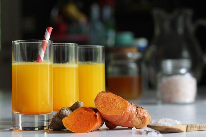 Wellness Shot - Turmeric Tonic With Coconut Water, Ginger And Honey | MommypotamusMommypotamus |