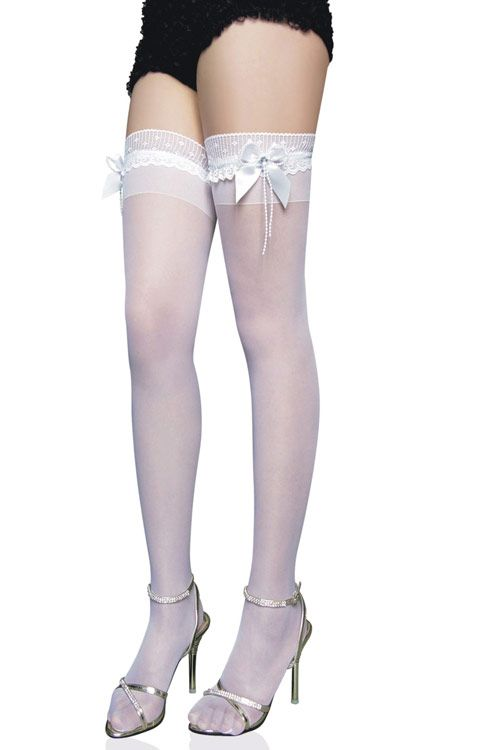 shop for sexy bow tie embellished translucent solid color womens silk stockings online at affordable prices and discover fashion at mobile - Collants Colors