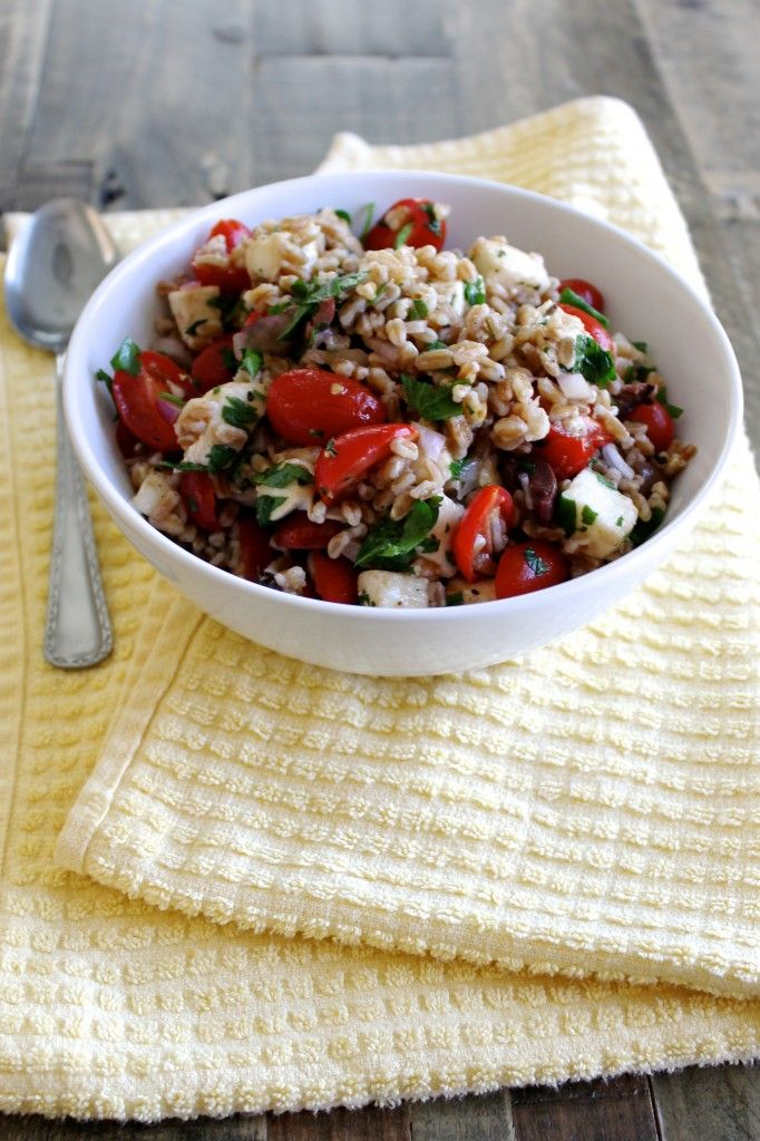 Summer Farro Salad with Cherry Tomatoes and Mozzarella - Little Chef ...