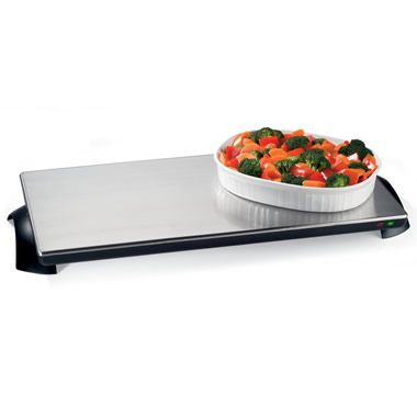 The Narrow Cordless Warming Tray - Hammacher Schlemmer