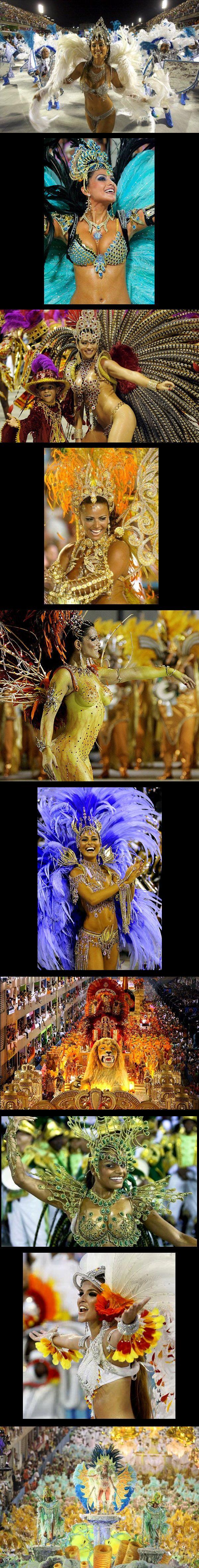 Rio de Janeiro, Brazil: Carnaval (the Portuguese spelling for carnival)