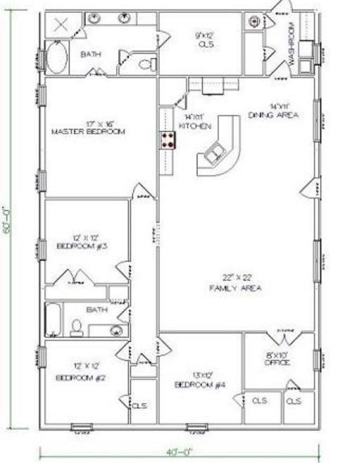 T Shaped Farmhouse Floor Plans
