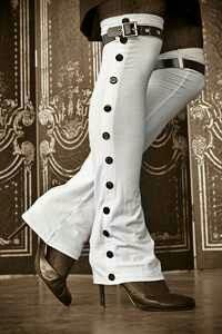 """Might be the only way I could pull off """"over the knee boots"""" with calves like mine."""