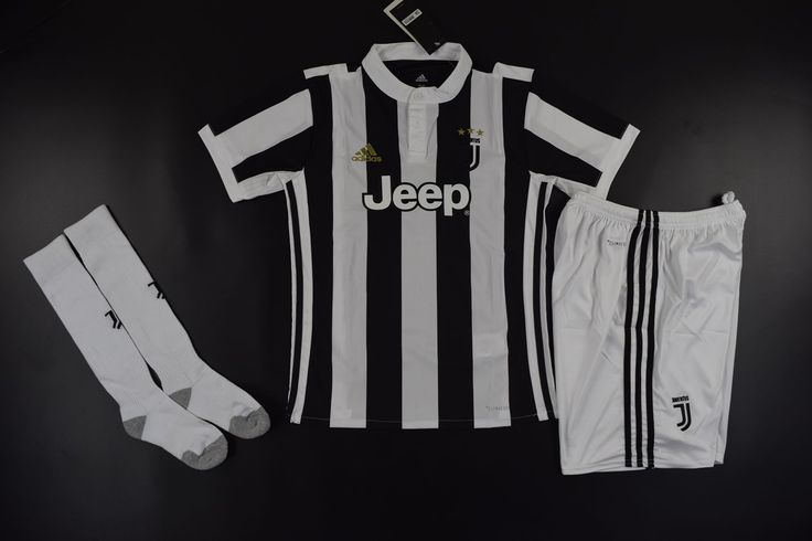 Youth Juventus Fc Home Black/White Fans Version Full Kits 2017/18