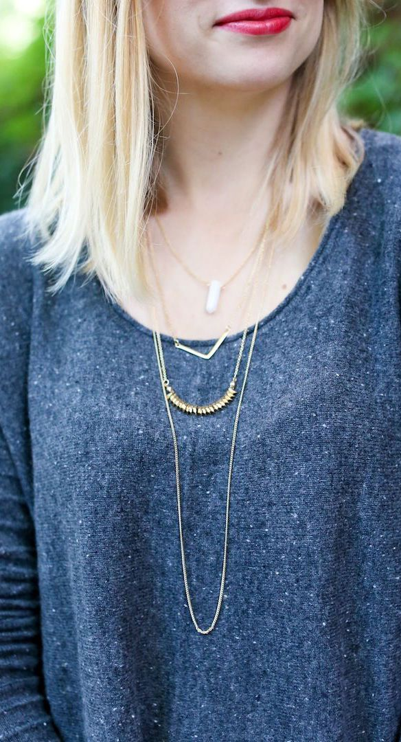 layered delicate necklaces