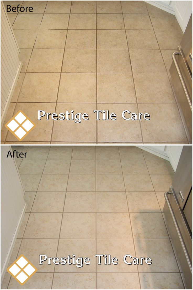 Cleaning And Colorsealing Grout On Kitchen Floor Seattle Tile Sealing Regrouting Recaulking Pinterest Floors