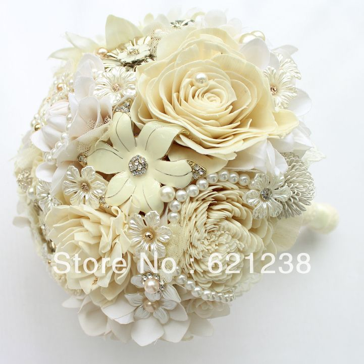 EMS free shipping,The ivory wedding holding flowers pastoral style bridal bouquet/Nude color candy color of the bride's bouquet-in Wedding Bouquets from Apparel & Accessories on Aliexpress.com