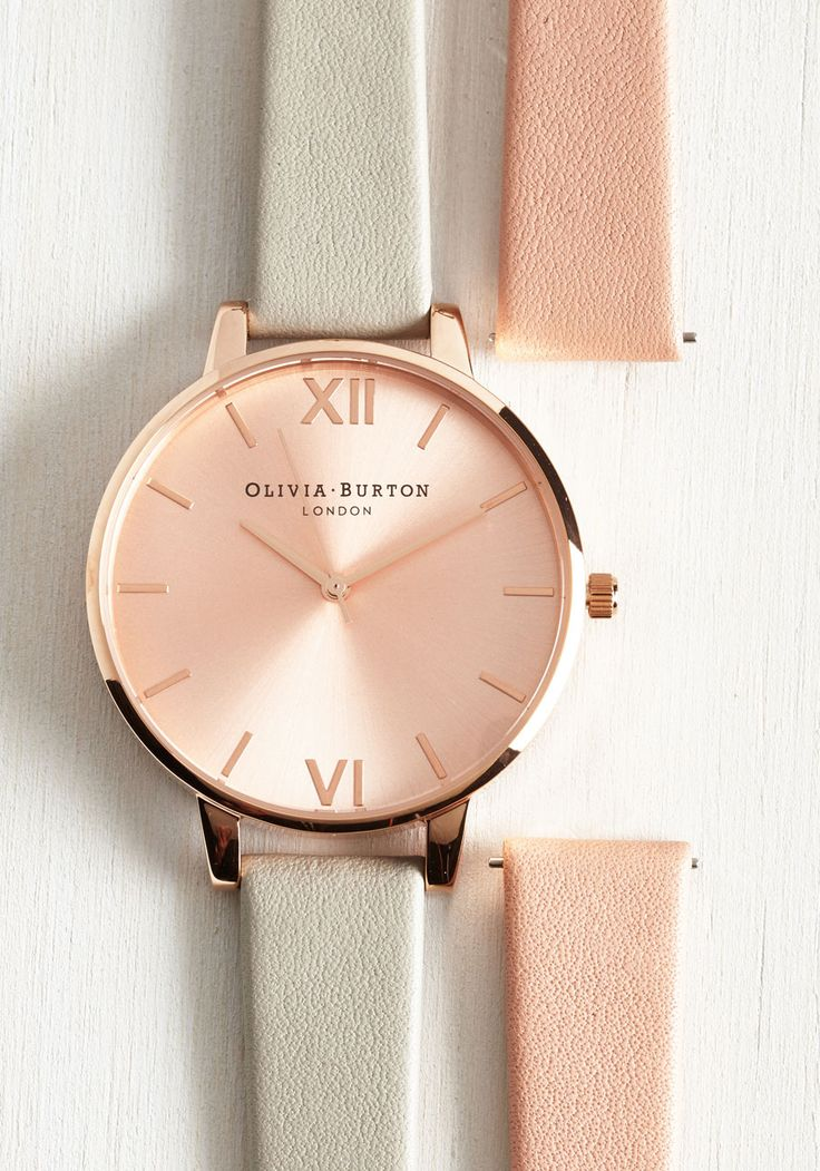 Fully Punctual Watch Set by Olivia Burton - Grey, Best, Pink, Work, Casual, Menswear Inspired, Gifts2015, Gals