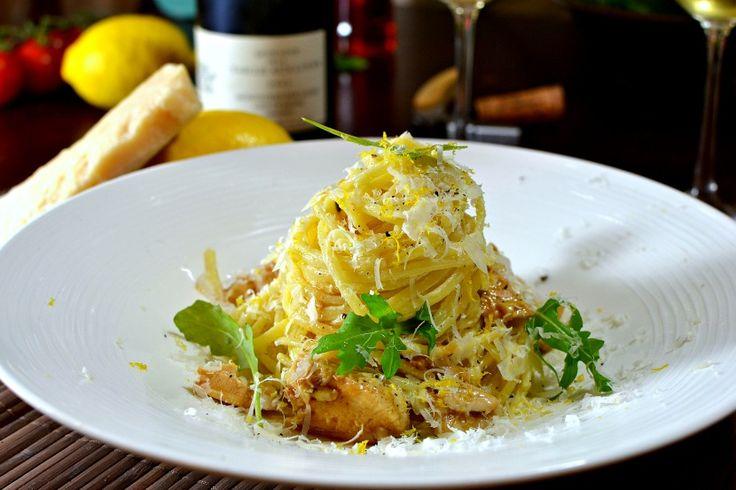Pâtes au citron et au poulet «Pasta al limone»