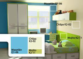Comex combinaciones de color para cuartos de for Gama de colores para interiores