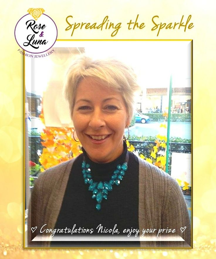 Spreading our Sparkle with our lucky winner Nicola #givejewellery #roseandluna #sparkleeveryday
