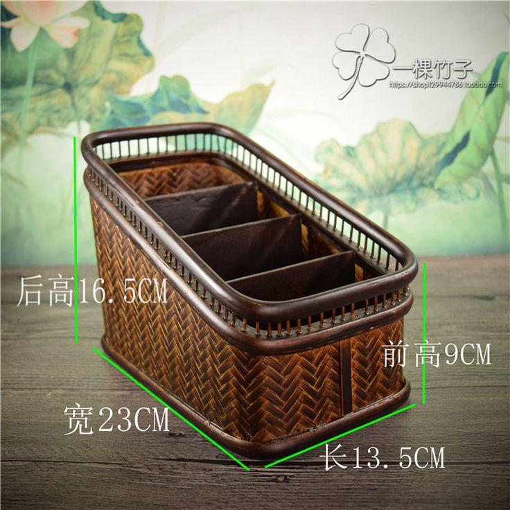Бутик лестницы бамбука чай коробка для хранения рабочего стола раздел отделочные чайная церемония хранение корзина рабочий стол хранение-Таобао глобальной вокзала