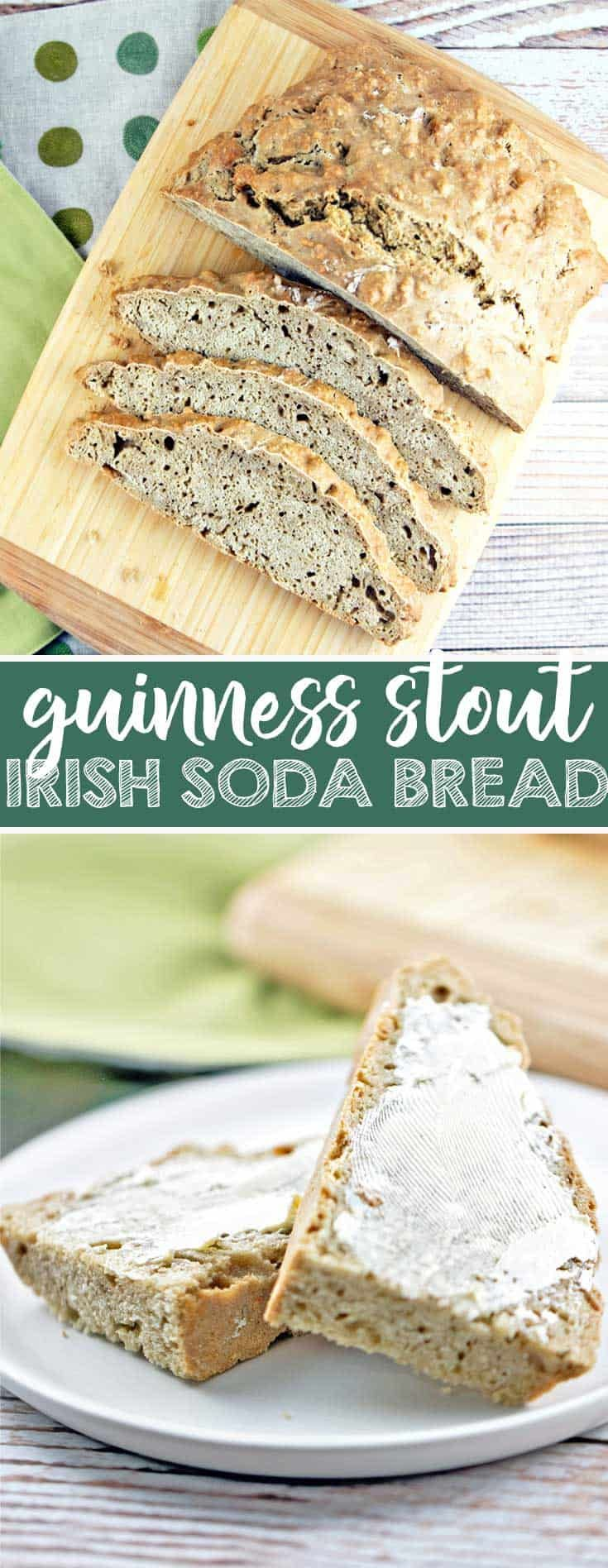 Guinness Irish Soda Bread: take your St. Patrick's Day up a notch with this stout-infused soda bread. {Bunsen Burner Bakery} #sodabread #quickbread #guinness #irishsodabread via @bnsnbrnrbakery