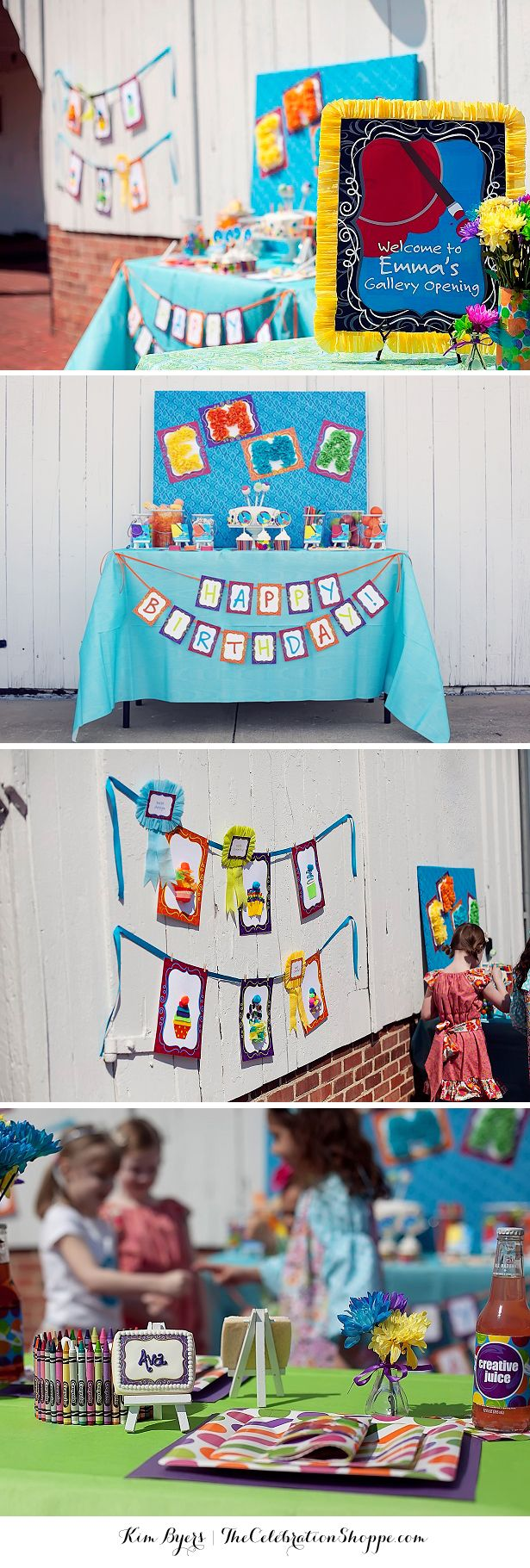 Fun and creative art birthday party ideas for your little picasso | @kimbyers TheCelebrationShoppe.com