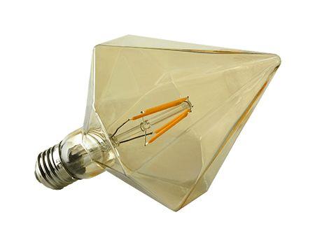 Piramide vormige Led filament lamp D110-4W E27 amberkleur glas