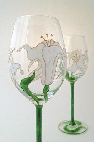 Toasted Glass - Lily Wine Glasses
