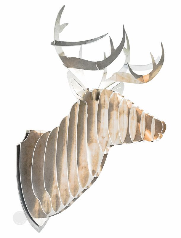 Faux Bois De Cerf : Metal Deer Head Mount