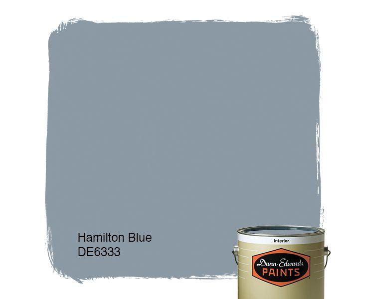 Dunn-Edwards Paints blue paint color: Hamilton Blue DE6333 | Click for a free color sample #DunnEdwards
